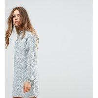 Vestido amplio de manga larga con detalle fruncido con lazo de Fashion Union