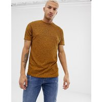 ASOS DESIGN relaxed t-shirt in interest rib in tan - Golden brown