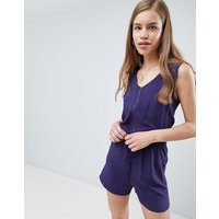 Brave Soul elasticated waist playsuit - Summer navy