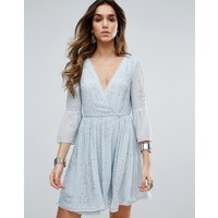 Free PeopleFree People Winter Solstice Embellished Party Dress - Light blue