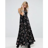 Free PeopleFree People Garden Party Print Maxi Dress - Black combo