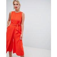 Oasis Tie Front Culotte Jumpsuit - Orange