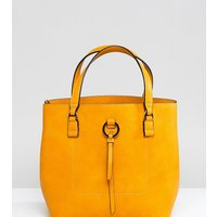 Accessorize Yellow Double Handle Bucket Bag - Yellow