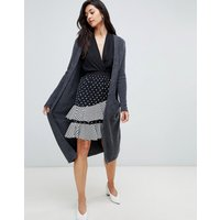 Y.A.S Long Knitted Cardigan - Dark grey