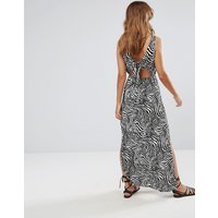 ASOSASOS Bow Back Maxi Dress in Zebra Print - Multi