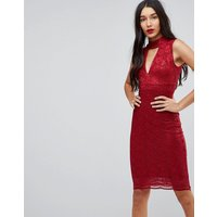 Jessica Wright Choker Neck Bodycon Dress - Red