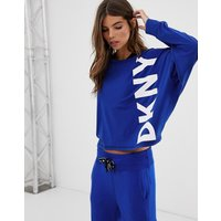Dkny Cosy Long Sleeve Top With Oversized Logo Co-ord