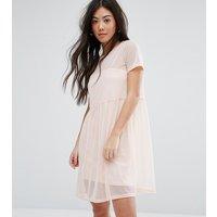 New Look PetiteNew Look Petite Smock Mesh Dress - Shell pink