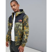 The North Face 1990 Mountain Q Jacket In Macrofleck Print - Green