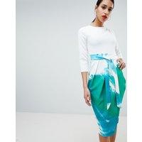 Closet London Pencil Skirt Dress - Multi