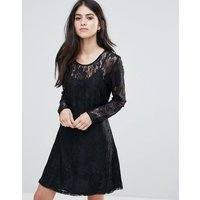 OnlyOnly Evania Lace Evening Dress - Black w aop