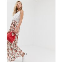 Vila floral pleated maxi skirt