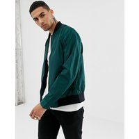 ASOS DESIGN bomber jacket in bottle green - Green