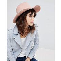 Sombrero fedora de fieltro rosa de Glamorous