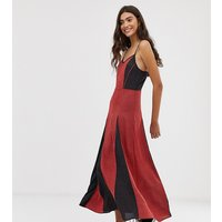 Brave Soul Tall gina maxi dress in mix print - Navy / red