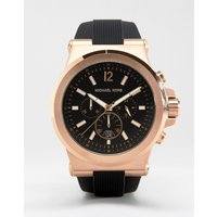 Michael Kors MK8184 Oversized Dylan Silicone Chronograph Watch - Black