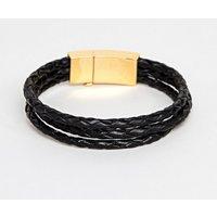 Vitaly Tether Bracelet In Gold & Black - Gold