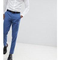 Pantalones ajustados de vestir en azul claro de ASOS DESIGN Tall