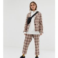 COLLUSION Petite check peg trouser - Multi