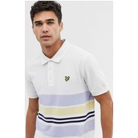 Lyle & Scott colour block polo in white - White