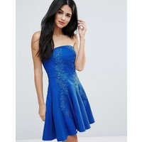 Forever UniqueForever Unique Strapless Mini Lace Detailed Dress - Sax blue
