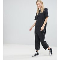 ASOS TALL Minimal Jumpsuit with Dropped Crotch - Black