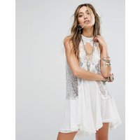 Free PeopleFree People Tell Tale Heart Sleevless Tunic Dress - Ivory