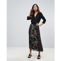 French Connection Bluhm Bottero Embroidered Mesh Maxi Skirt - Black multi