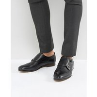 H By Hudson Castleton Leather Monk Shoes - Black