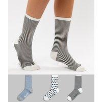 Pack de 3 pares de calcetines con diseños de rayas y lunares de Pepe Jeans