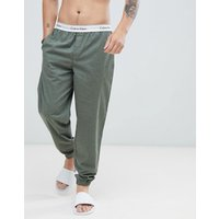 Calvin Klein Modern Cotton Woven Joggers With Cuffed Ankle - Green