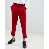 Pantalones de vestir tapered en rojo de ASOS DESIGN