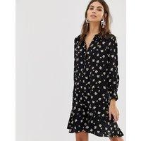 Whistles Edelweiss print mini dress - Black/ multi