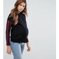 Jersey con detalle de canalé en contraste de ASOS Maternity