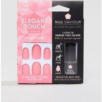Elegant Touch Nail Saviour Almond Velvety Rose Matte False Nails - Velvety Rose