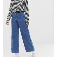 Monki straight leg cord trousers in blue - Blue