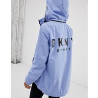 Dkny Convertible Hood Jacket With Oversized Logo