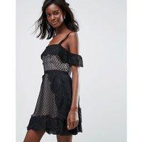 MajorelleMajorelle Polka Dot Mini Evening Dress - Ash