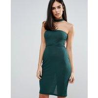 Unique 21Unique 21 Choker Strapless Dress - Green