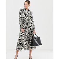 Karen Millen zebra print shirt dress - Black & white