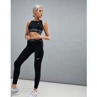 Leggings con diseño cruzado en negro Pro Training de Nike