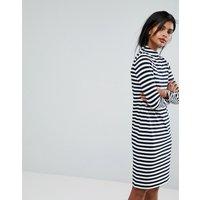 VilaVila Striped High Neck Jumper Dress - Striped