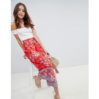 Miss Selfridge printed crop wide leg trouser - Multi