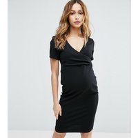New Look MaternityNew Look Maternity Wrap Short Sleeve Dress - Black
