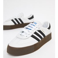 adidas Originals Samba Rose Trainers In White With Dark Gum Sole - White