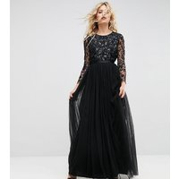 Needle & ThreadNeedle & Thread Embellished Gown with Long Sleeves - Black