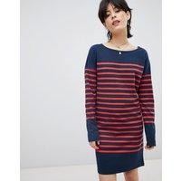 Maison Scotch Breton Stripe Sweat Dress - 18 combo b