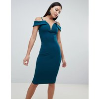 AX Paris Deep V Pencil Dress - Teal