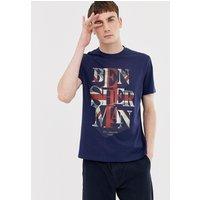 Ben Sherman Union Jack T-Shirt - Navy