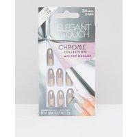 Elegant Touch Chrome Oval False Nails - Molten Madame - Molten Madame